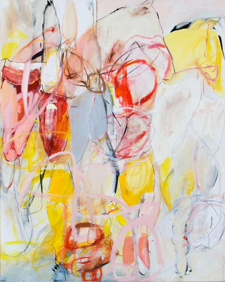 Lydia Janssen Abstract Painting - Cutoff