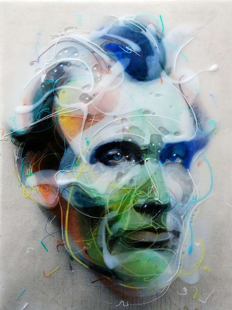 Face of Lincoln - Mixed Media Art by Jongwang Lee