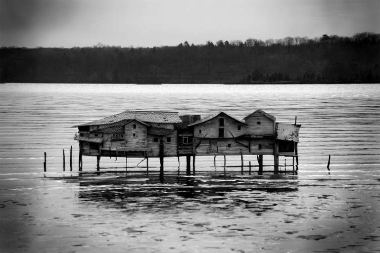 Robert Hite Black and White Photograph - Mud Flat House