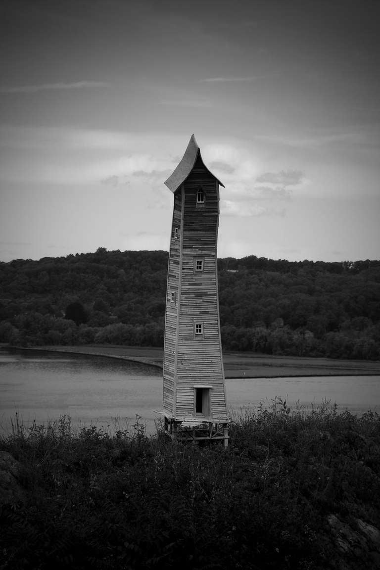 Robert Hite Black and White Photograph - River Tower