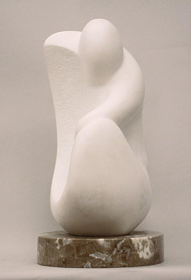 Seated Figure - Sculpture by Lilian R Engel