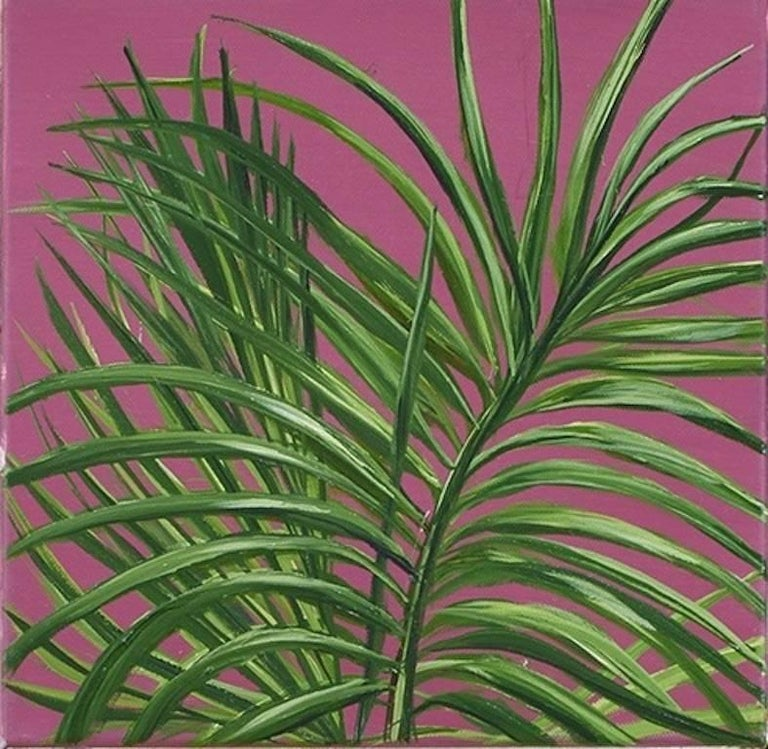 Tropical Study 3, oil on canvas, 10 x 10 inches. Plant painting