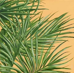Tropical Study 6, oil on canvas, 10 x 10 inches. Plant painting