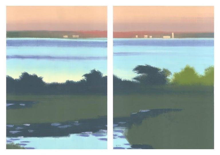 Rachel Burgess Landscape Print - Lillies