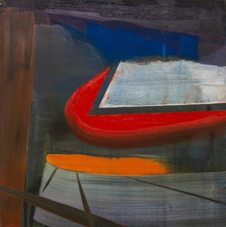 Jonathan Beer Abstract Painting - Rear Window
