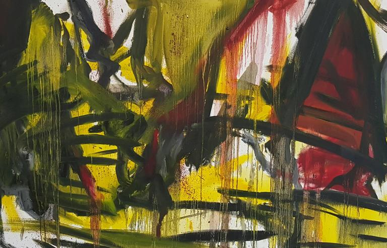 Unknown Abstract Painting - Abstract