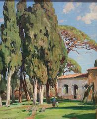 Old Mission & Cypress Trees