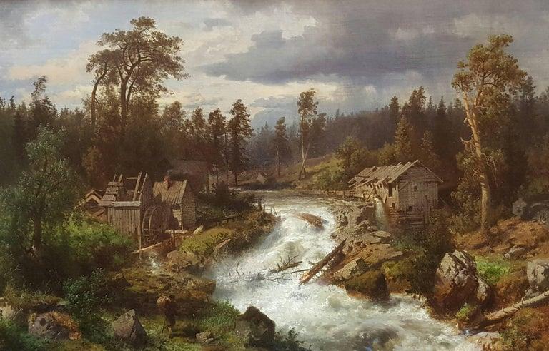 Hermann Ottomar Herzog Landscape Painting - California Mill