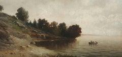 Lake Shore with Canoe
