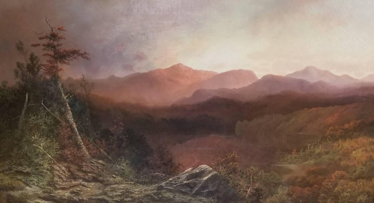 Charles H. Chapin Landscape Painting - High Peaks in the Adriondacks