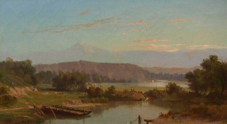 John Dolph Landscape Painting - River Landscape