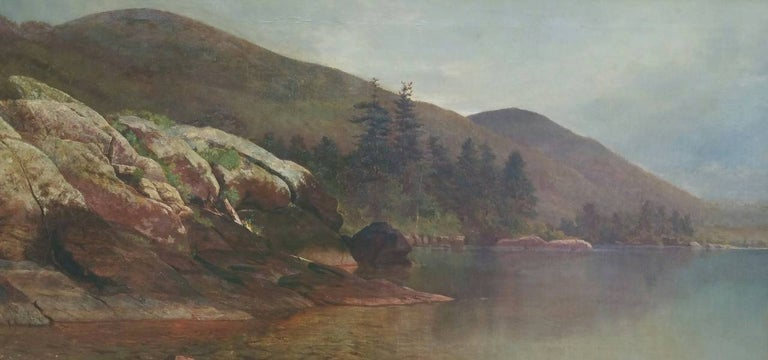 Andrew Fisher Bunner Landscape Painting - Fourteen Mile Island, Lake George