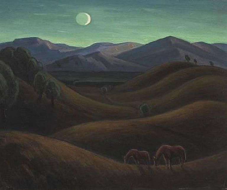 Carl Lindin Landscape Painting - Ojai, California