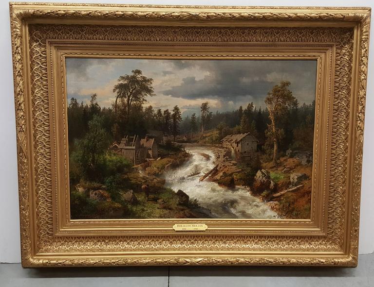 California Mill - Painting by Hermann Ottomar Herzog