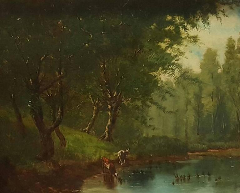 Landscape by a Stream