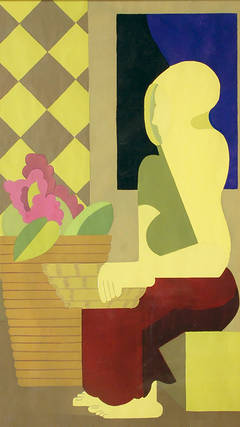 Seated Figure in Still Life