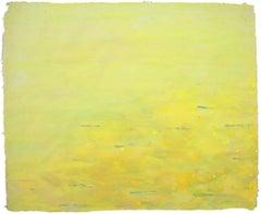 Ellen Kozak, Resonance-of-yellow, 2007, Cotton, Handmade Papter, Pigment
