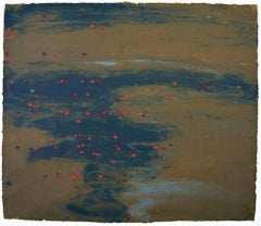 Ellen Kozak, Red Flecked River, 2007, Pigment, Handmade Paper