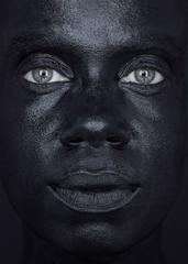 Eva Mueller, Black Face_Sokhna, 2012-2013, Digital Print