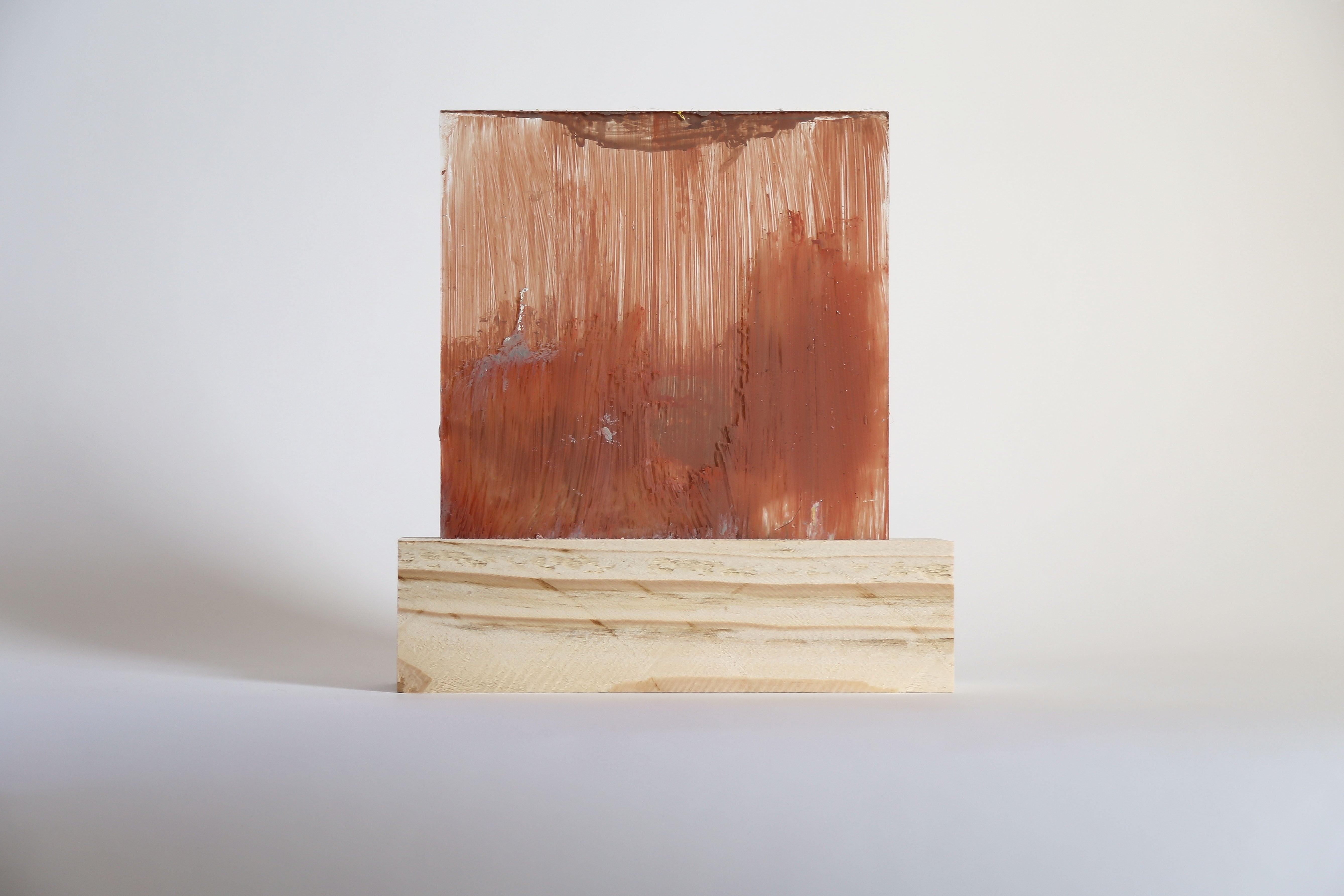 Lourdes Rivera, Retrospect 4, 2015, Plexiglass, Wood, Oil Paint
