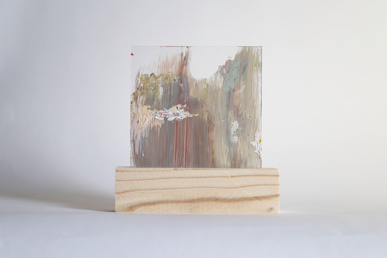 Lourdes Rivera, Retrospect 5, 2015, Plexiglass, Wood, Oil Paint