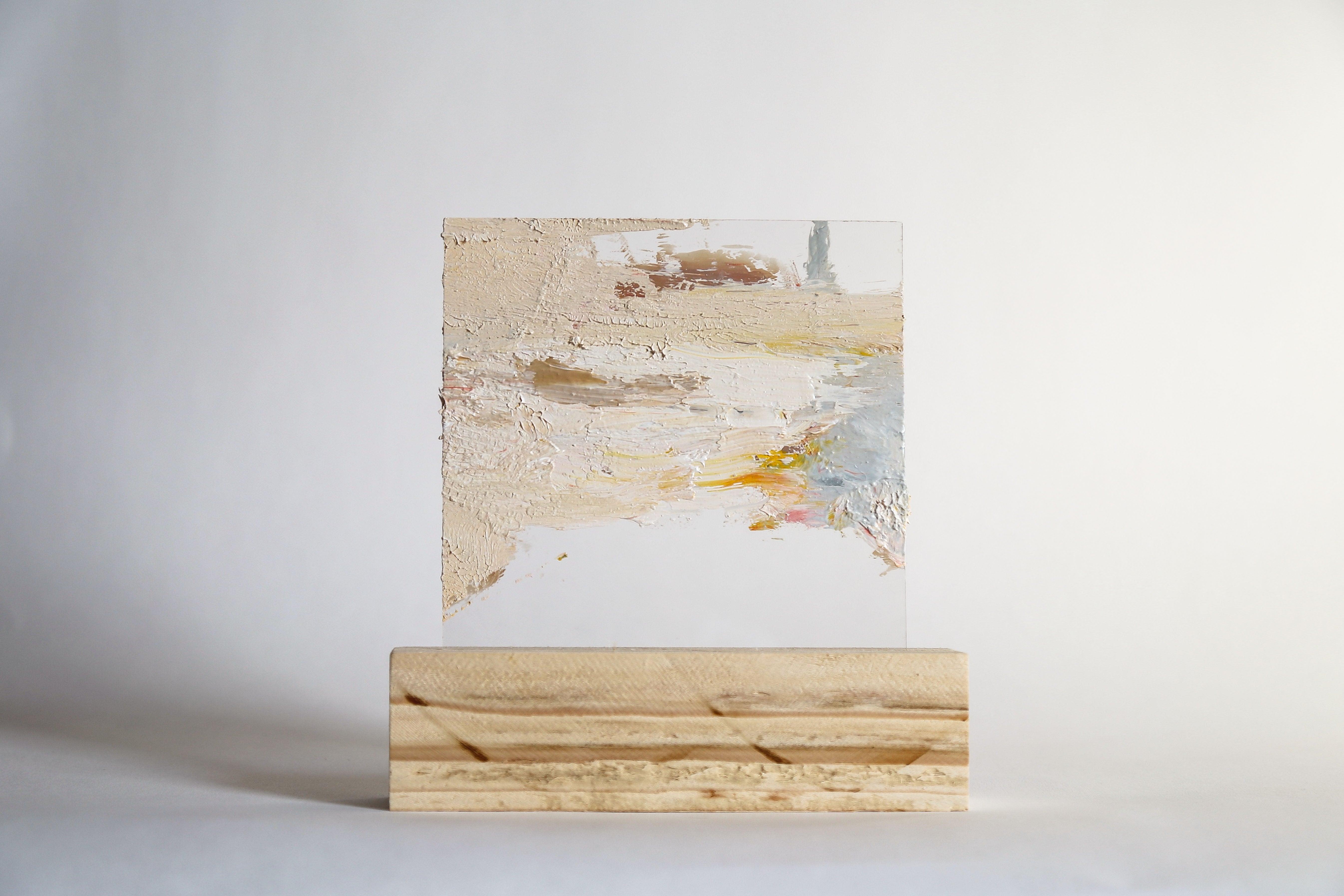 Lourdes Rivera, Retrospect 6, 2015, Oil Paint, Plexiglass, Wood
