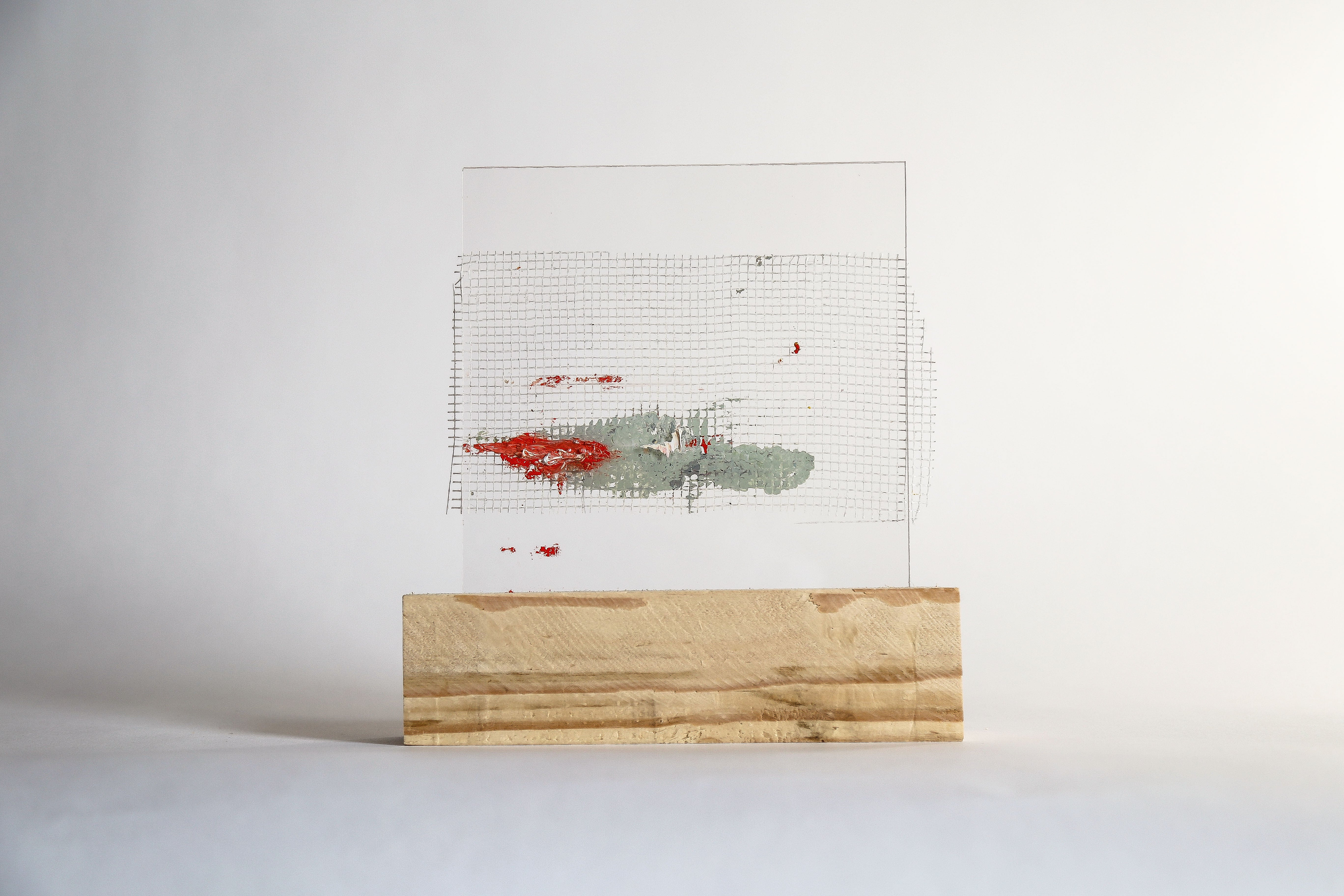 Lourdes Rivera, Retrospect 7, 2015, Plexiglass, Wood, Oil Paint
