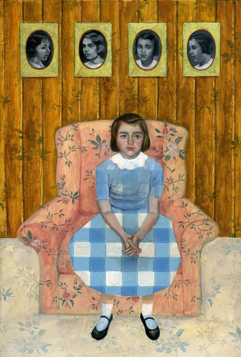 Lydia Viscardi Figurative Painting - The Third Girl
