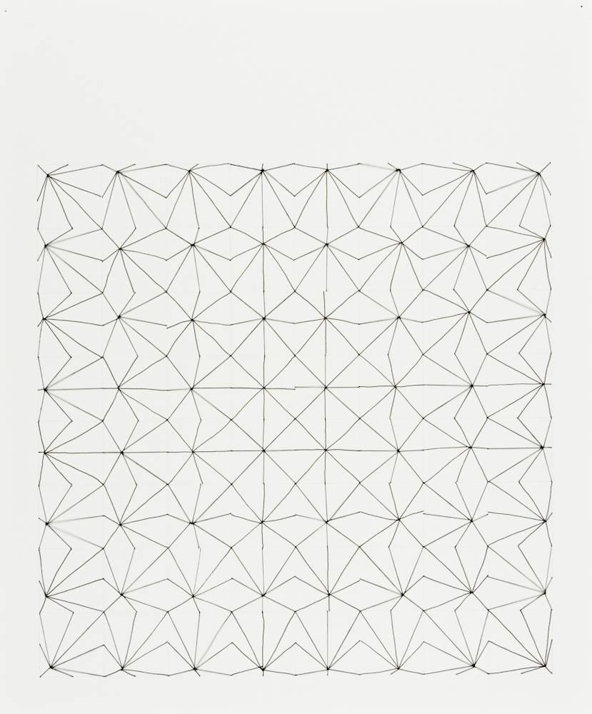 Audrey Stone, #25, 2010, Thread, Paper, Ink, Pencil