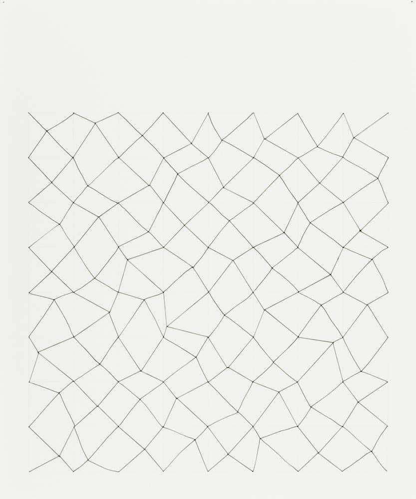 Audrey Stone, #24, 2010, Thread, Paper, Ink, Pencil