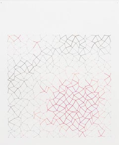 Audrey Stone, #64 Hot Spot, 2011, Thread, Rag Paper, Graphite