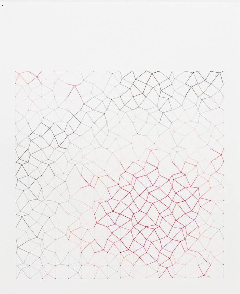 Audrey Stone, #64 Hot Spot, 2011, Thread, Rag Paper, Graphite - Art by Audrey Stone