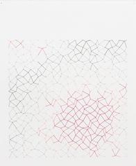 Audrey Stone, #64 Hot Spot, 2011, Thread, Rag Paper, Graphite