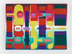 Meg Atkinson, Sunset at Waverly Park, 2015, oil on canvas, Abstraction