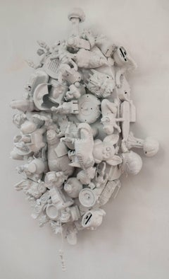 Margaret Roleke, Toyland, 2016, children's toys, spray enamel, wood