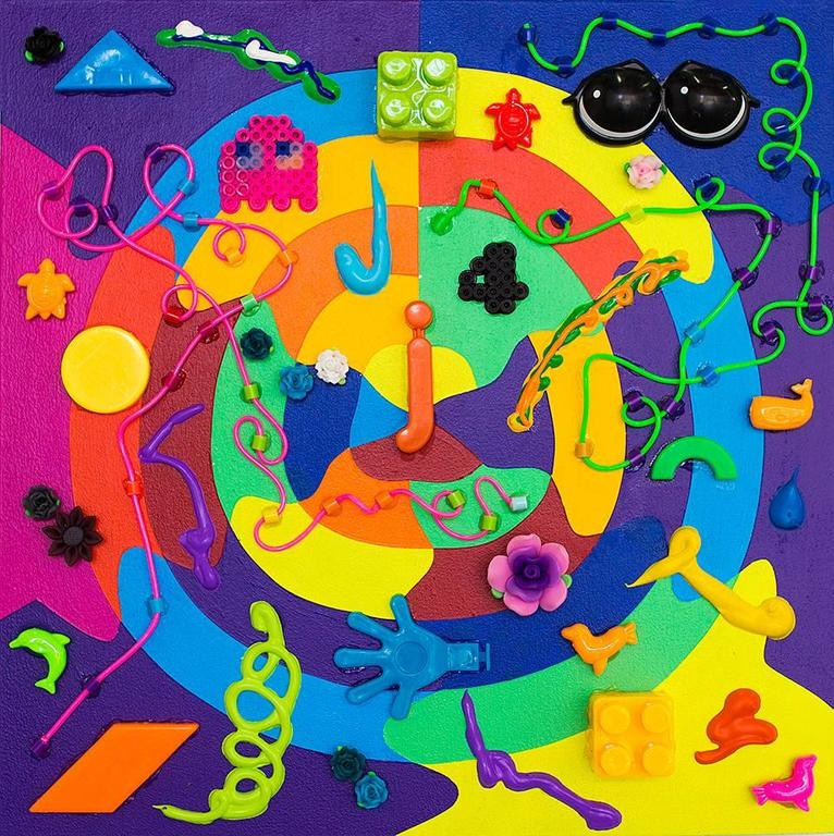 Kenny Colors Abstract Painting - Twisterflipper