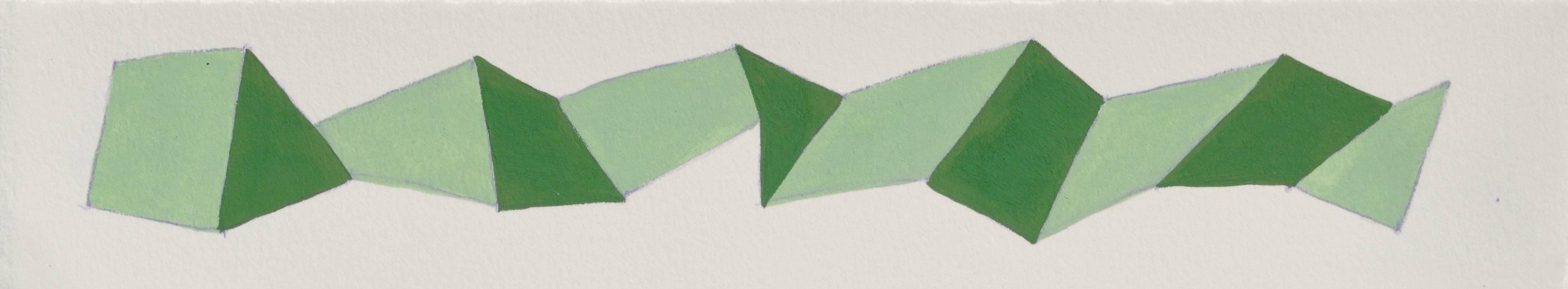Karen Schiff, Word Snake, 2014, Gouache, Rag Paper, Graphite