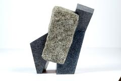 Kurt Steger, Urban Structure No. 25, 2016, Granite, Handmade Paper, Found Object