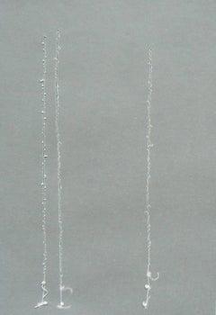 Liz Sweibel, Untitled (Tear 4), 2010, Thread, Vellum