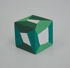 Karen Schiff, Hypercubic, 2016, Wood, Gouache