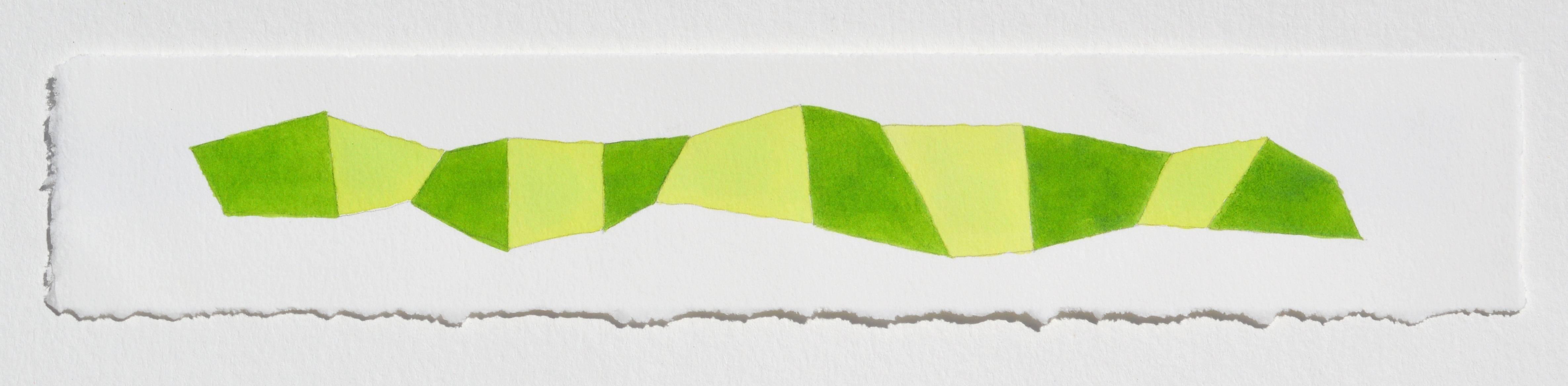 Karen Schiff, Word Snake, 2014, Watercolor, Rag Paper, Pencil