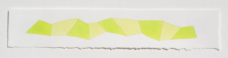 Karen Schiff, Word Snake F, 2014, Watercolor, Gouache, Rag Paper, Pencil - Art by Karen Schiff
