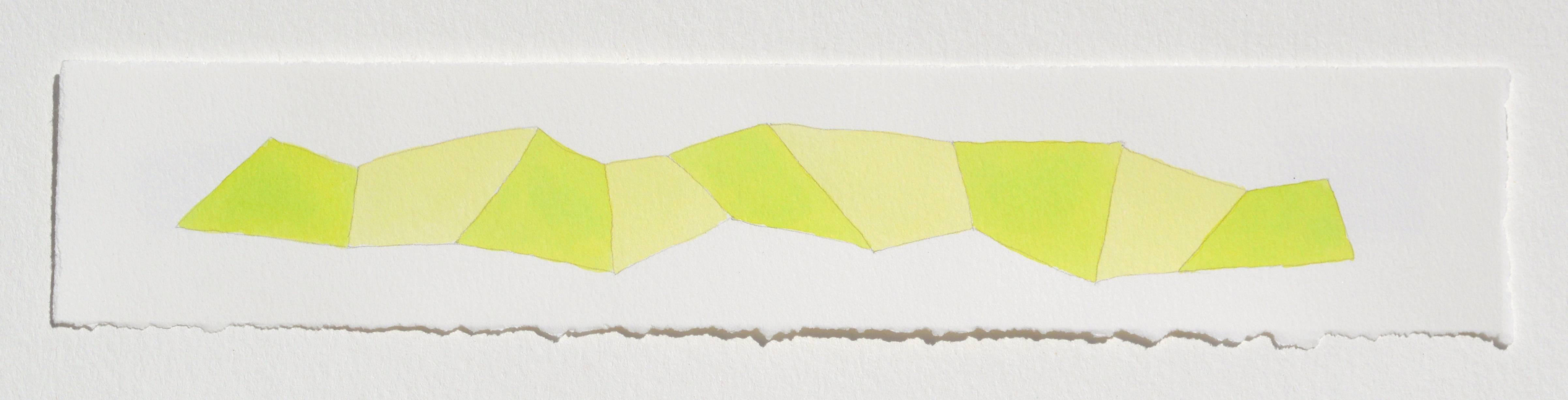 Karen Schiff, Word Snake F, 2014, Watercolor, Gouache, Rag Paper, Pencil