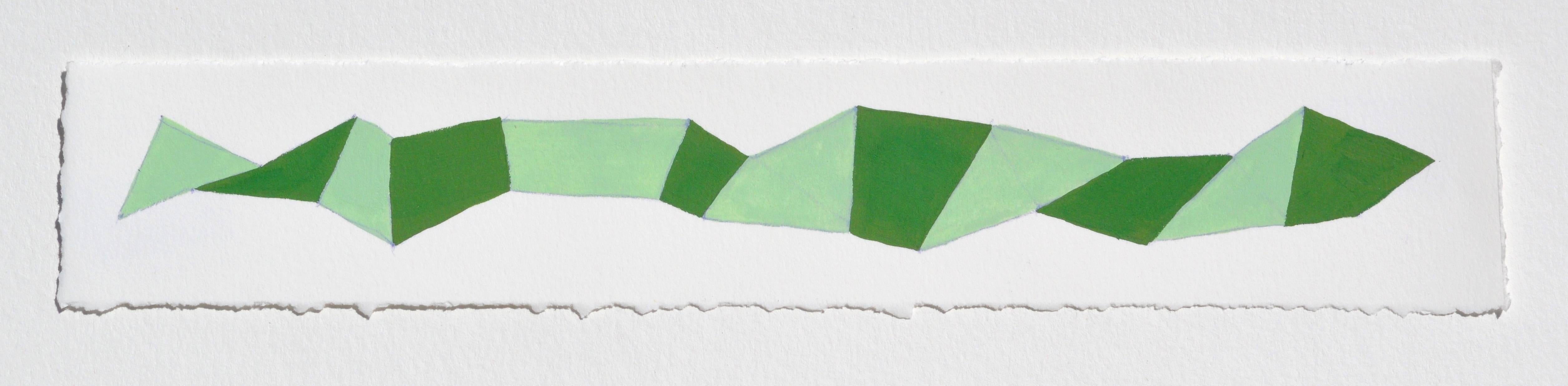 Karen Schiff, Word Snake G, 2014, Watercolor, Gouache, Rag Paper, Pencil