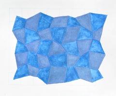Karen Schiff, Field of Sorts II, 2014, Watercolor, Pencil, Graphite