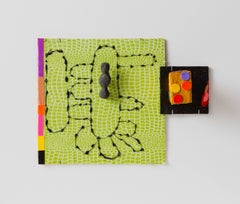 Suzan Shutan, Lizard King (Homage to Jim Morrison), 2016, wire, paint, paper