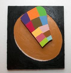 Suzan Shutan, Tic, 2014, wood, paper, acrylic paint