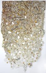 Nancy Baker, Be Just, 2014, glitter, acrylic paint, archival paper