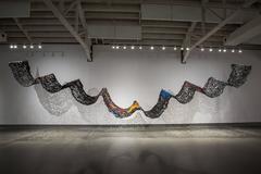 Suzan Shutan, FLOW, 2016, pigment, plexiglass, tar, glue, mulberry paper