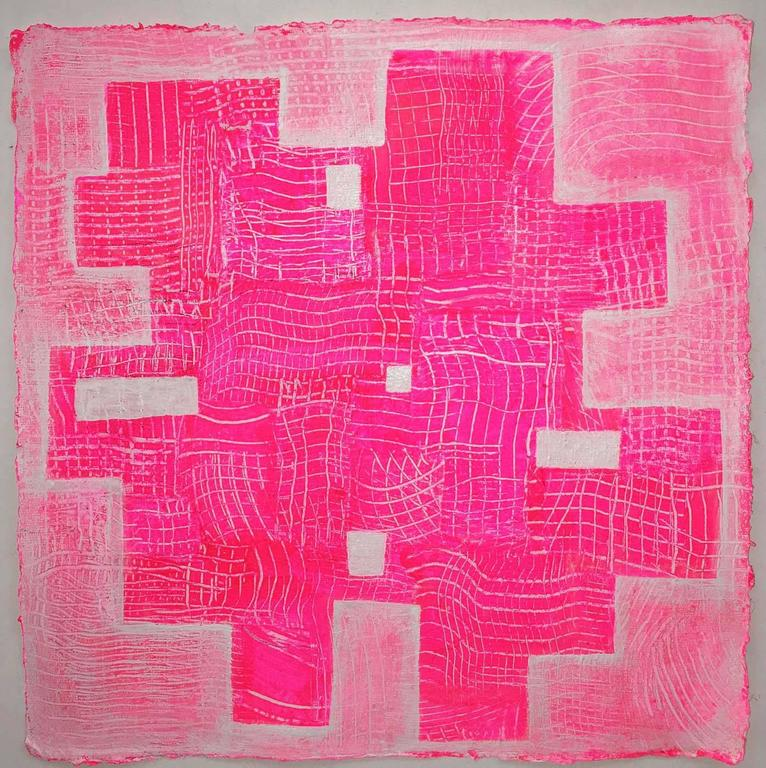 Andra Samelson Abstract Painting - Pinkaboo